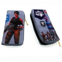 Wholesale wallets for kids - Fortnite Cosplay Wallet With Card Holder Coin Pocket teenager Long section Harry Potter Purse Cartoon Toys for Kids Gift C4465