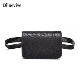 beige fanny packs Canada - DIINOVIVO Waist Bag Women Alligator PU Leather Belt Bag Waist Pack Travel Belt Wallets Fanny Pack Ladies Phone Bags WHDV0634
