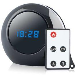 Grabador de video con mini movimiento activado online-Reloj despertador multifunción Cam 1280X960 Reloj Mini Cámara Grabadora de video Camcorder de seguridad Movimiento activado DVR con control remoto