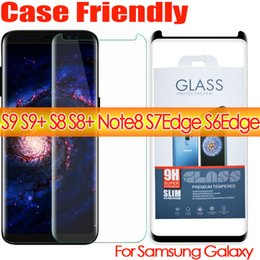 Wholesale plus version - s9 s9plus note8 case friendly 3d curved tempered glass phone screen protector For Samsug Galaxy s8 s8 plus s7edge S6Edge case version glass