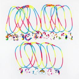 Canada Animal de bande dessinée multicolore Silicone collier licorne mignonne 5cm pendentifs nuque dentelle 41cm filles jouets mignons parti performance concert spectacle accessoires supplier lace toys Offre
