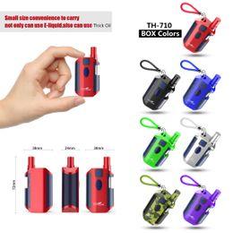 Wholesale red oil - Authentic Kangvape TH-710 Box Mod Kit E Cigarettes 650mAh Vape Mods 0.5ml Vape Cartridges 7 Cool Colors For Thick Oil & Normal E-liquid