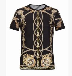 Wholesale High Trade - Burst of summer trade short section male cotton round neck Medusa printing T shirt casual high-end shirt