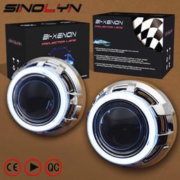 SINOLYN 3.0 Pro HID Bi lentilles au xénon Phare Lentille de projecteur de voiture COB LED Ange Yeux Halo DRL Phare Retrofit DIY Car-style ? partir de fabricateur