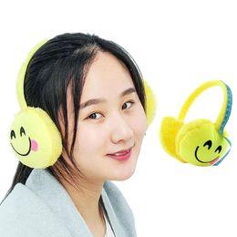 Wholesale Winter Accessories Ear Muffs - YGYEEG New 2018 Christmas Cartoon Unisex Expression Winter Warmer Men Earmuff Plush Cloth Novelty Ear Muffs Women Accessories