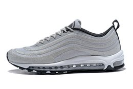 Wholesale atmosphere shoes - 2018 summer Breathe Silver Bullet 97 Ultra '17 LX Atmosphere Grey Women's Men's Running Shoes sport Sneaker for lover Euro size 36-46