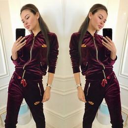 Canada Nouveau style européen et américain de vêtements pour femmes printemps et automne, marque de mode, impression de lettres, costume de sport pour femmes supplier european style women suit Offre