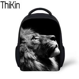 ragazzi freddi di zaini Sconti THIKIN Baby Mini School Bags per bambini Animal Lion Pattern Stampa Kindergarten Backpack Boys Cool Zaini zainetto Satchel
