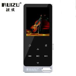 Wholesale 8gb Touch Music Player - Ruizu X05S ruizu (X19) HiFi Player Sport Mini Lossless Sound MP3 Music Walkman Speaker FM Radio Recorder 8GB Metal Touch Screen