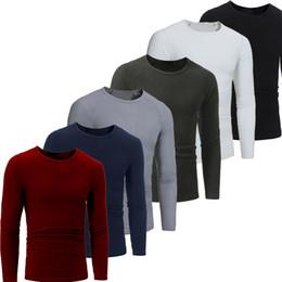 Korea mans lässig schmaler passend online-T-Shirt Korea-Art und Weise beiläufige dünne Rundhalsausschnitt lang sleeved T-Shirts der Männer reizvolle Art clothing.Tight passende Eignungklage T-Shirt geben Verschiffen frei