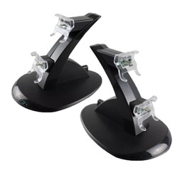 Canada Gros-LED Chargeur double Dock Mount USB Stand de charge pour PlayStation 4 PS4 Xbox One Gaming Controller sans fil avec boîte de détail Offre
