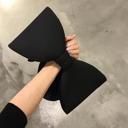 Wholesale Trendy Shoulder Bags - 2018 Women concave shoulder bag cosmetic bag cute kawaii bow new fashion trendy space cotton handbag