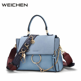 Wholesale Large Suede Handbag - wholesale Luxury Handbags Women Bags Designer 2018 Suede Leather Ladies Hand Bag Circle Ring Women's Shoulder Bag Bolsos Mujer Sac A