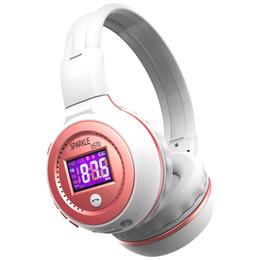 Écran de casque bluetooth en Ligne-Zealot B570 Pliable Stéréo Hifi Bluetooth Casque Sans Fil Headand Headset Avec Écran LCD Micro-SD Carte Slot Mic FM Radio Pour la Musique