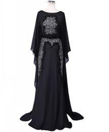 Robe de Soirée Elie Saab en Dentelle Perlée Longue Robe de Soirée Formelle Noire Dubai Arab Mousseline de Soie Mère de Robes de Mariée ? partir de fabricateur