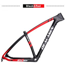 Wholesale china mtb - 2018 carbon fibre cycle Deacasen lightweight mountain bike frame MTB Bike China Chinese Carbon Racing Frame