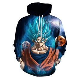 Wholesale dragon ball hoodie - 2018 spring Men Women Anime Hoodies Dragon Ball Z Pocket Hooded Sweatshirts Kid Goku New Hoodie 3D Hoodies Pullovers Outerwear