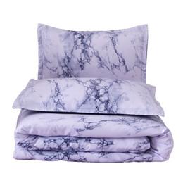 Queen Size Double Bed Marble Pattern Comforter Set 228 * 228cm Summer Comforter funda de almohada juego de cama desde fabricantes