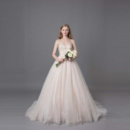 Wholesale Princess Chest - Jihan design wedding dress original high-level custom wipe chest with diamond sweet princess doll skirt upper body beads special sales