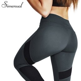 Wholesale Sexy Sportswear For Women - Simenual Hot sale push up leggings for women clothing sportswear fitness slim sexy bodybuilding pants female legging patchwork