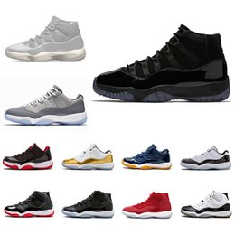 Wholesale red prom gowns - Cap and Gown 11 Prom Night Platinum Tint 11s XI Gym Red Bred PRM Heiress men women Basketball Shoes Cool Grey sports Sneaker