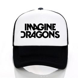 Imagine Dragons Rock Band bonés de beisebol Americano indie Rock Band cap  homens mulheres verão malha chapéu carta impressão snapback chapéus 878517c8508