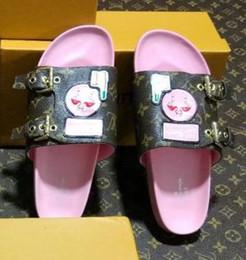Wholesale open rooms - New Summer Women Flamingo Slippers Designer Lady Open Toe Comfortable Flat Heel Plain Sandal Boxed Size EU35-42