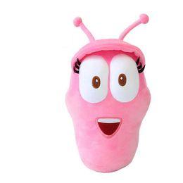 20CM Coreano Anime Larva giocattoli di peluche Insetti rosa peluche Animali bambola Film TV Per bambini Compleanno Regalo di Natale Hobby da