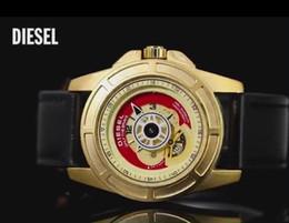 Wholesale Leather Folding Mirror - Sports DZ Mens Watches mineral super strong glass mirror 45mm Top Brand luxury watches Relogio DZ Watch cowhide strap Fashion Wristwatches