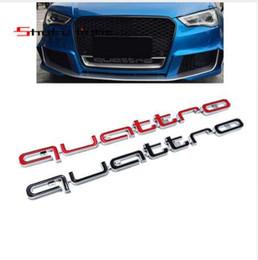 badge audi noir Promotion Rouge noir Audi emblème emblème pour Audi A4 A5 A6 A7 RS5 RS6 RS7 emblème RS Q3 emblème bâton de voiture ABS autocollants grille avant garniture inférieure