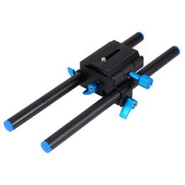 """Support de rail dslr 15mm en Ligne-Support de base de système de support de tige de rail de 15mm avec 1/4 """"plaque de vis NOUVELLE V5B9 pour Canon DSLR"""