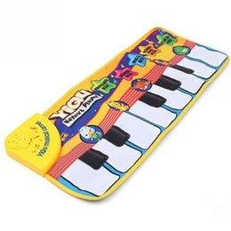 Wholesale Best Sing - 2017 Latest Design for Newborn Baby Music Mat Touch Play Keyboard Musical Music Singing Gym Carpet Mat Best Kids Baby Gift