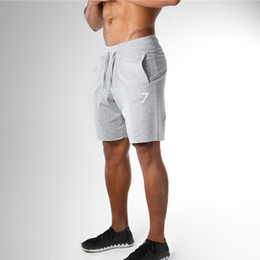 Wholesale Denims Shorts - Fashion Gyms Shorts For Men Fitness Tights Crossfit Underpants Elastic Waist Outwear Male Sweatpants Workout Shorts Wicking