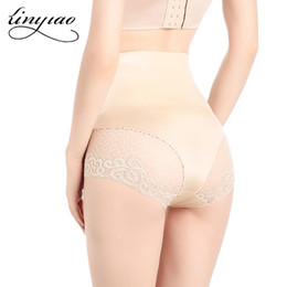 Wholesale invisible tummy trimmers - Lace Shaping High Waist Brief Basic Control Panty Slimming underwear Seamless Tummy trimmer Invisible body Shaper