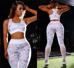 2019 iluminar ropa Europeo Europeo Rosa Claro 3D Impreso Leggings y Sujetadores de Las Mujeres Slim Yoga Ropa de running Moda Mujer Push Up Chándales Deportivos FS5282 iluminar ropa baratos