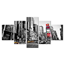 2018 Ventas Calientes Marco 5 Paneles de Imagen Ciudad de Nueva York Hd Impresión de la Lona Pintura Obra de Arte de Pared Arte de la Lona Pintura Al Por Mayor Y18102209 desde fabricantes