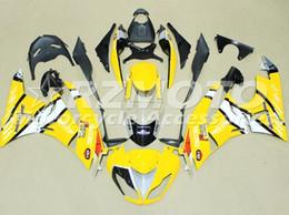 Wholesale Yellow Zx6r - New ABS Plastic Motor Full Fairings Kits Fit For kawasaki Ninja ZX6R ZX-6R 636 2009 2010 2011 2012 09 10 11 12 6R Bodywork set yellow