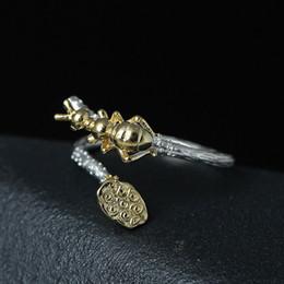 Canada Bague en argent sterling 925 Lotus Jolie bague de fourmi animale Ouverture réglable en argent ornement argent cadeau beaux bijoux en gros Offre