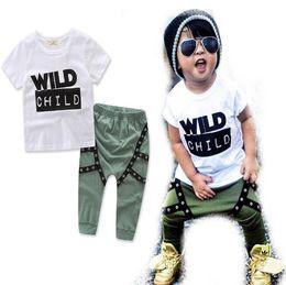 8ebd3ad78 Discount european style boy pants - Baby boy clothes INS Children outfits  boys cotton letter Top