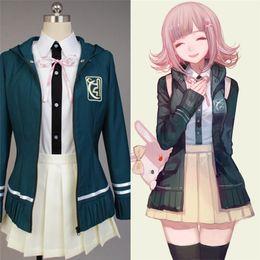 Trajes de anime de mujer online-Traje Nanami ChiaKi Danganronpa 2 Cosplay Girl Uniforme Escolar Traje de Marinero Anime Cosplay Traje de Víspera de Todos los Santos