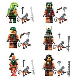 Figuras de serpentes on-line-Skybound céu piratas Cyren Doubloon Nadakhan Bucko cobra Clancee macaco espada Mini fantasma Ninja figura de ação bloco de construção de brinquedo
