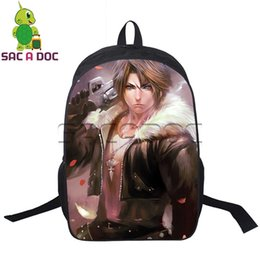 dfce508c3be4 Anime Final Fantasy CLOUD Backpack Young Men Women Cosplay Backpack School  for Teenagers Boys Girls Daily Backpacks