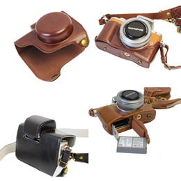 Yeni Lüks Pu Deri Video Kamera Kılıf Için Olympus EPL8 E-PL8 14-42mm Kamera Çantası Açık Pil Ile kayış Mini Kılıfı nereden