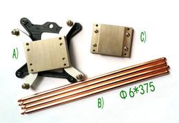ventilateur 12v supposé Promotion 1150 1151 1155 système de conduction thermique de plate-forme avec 4 tubes de chaleur 4PCS 6X375