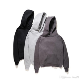 Wholesale Fork Caps - The 17th ss under the Fear of God even cap loose plain fleece spread out the fork with men and women black Dark grey light grey M--XL