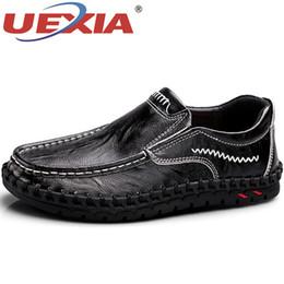UEXIA Herren Büro Freizeit Brogues Schuhe England Mode Leder Herbst Montage  Braun Schuhe Splicing Männlich Flache Müßiggänger Luxus preiswerte männer s  büro ... a2b429c229