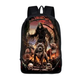c0d27f511e34 cool boy backpacks UK - Cool Death Skull Fashion Backpack Children School  Bags Boys Girls For