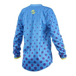 Manica lunga lunga della camicia da ciclismo online-New Jersey ciclismo manica lunga rosso blu Mountain Bike Moto Ciclismo Abbigliamento Uomo MTB MOTO GP DH MX Crssmax Shirt