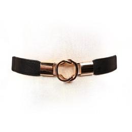 Faja negra de moda online-Nuevo vestido ancho abajo chaqueta con falda Simple salvaje coreano moda elástico negro cintura Faja Cummerbunds Corset cinturón