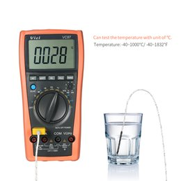 Wholesale auto range meter - Vici Digital Multimeter DC AC Voltage Current Meter Capacitance Resistance Diode Tester Auto Range DMM with Temperature Detector